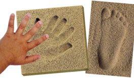 Hand- und Fußabdruck