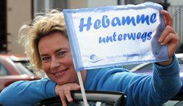 Hebammen Protest