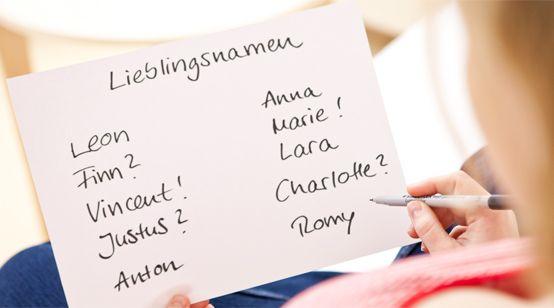 Beliebte Vornamen