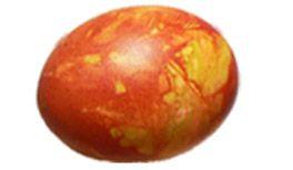 Osterei gelb / orange