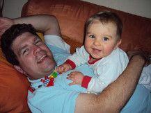Luis mit Papa