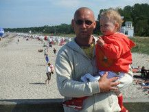 Am Ostsee-Strand!