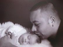 Papa mit Töchterchen Julina