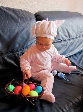 Die Eier werde ich gleich schön verstecken