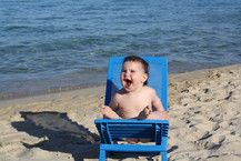 mein erster Strandurlaub