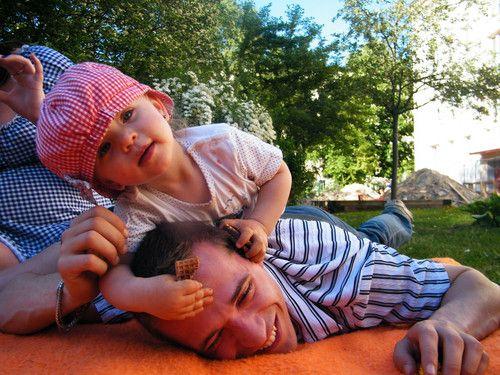 Mia und ihr Papa