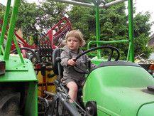 Ressi ich hol dich mit dem Traktor ab...