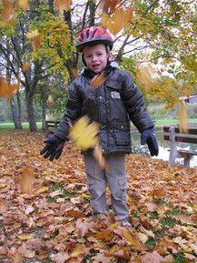 Niklas im Blätterregen
