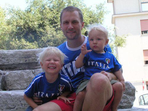 Papa und wir in Italien