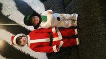 Santa mit Schneemann
