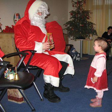 Große Ehrfurcht vor dem Weihnachtsmann