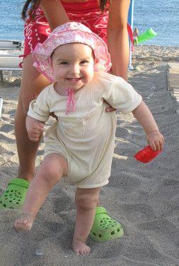 Erste Schritte im Sand