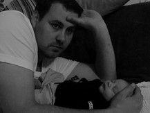Kuscheln mit Papa