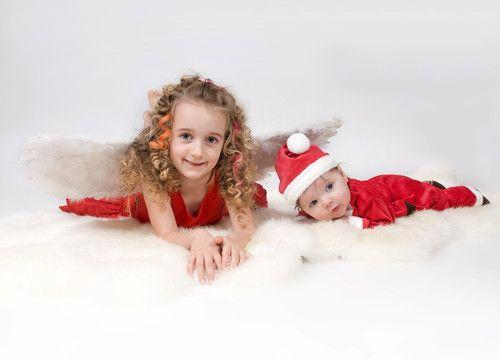 Weihnachtsengel und Mini-Weihnachtsmann