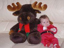 """Der Weihnachtsmann mit seinem Rentier """"Rudi"""""""