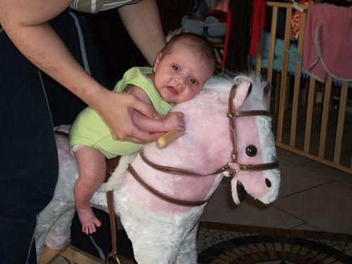 Pinas erstes Reiterlebnis