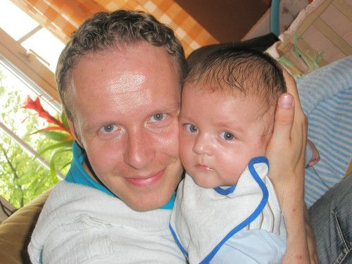 Der Papa mit dem Sohn