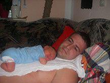 der erste Mittagsschlaf zu Hause