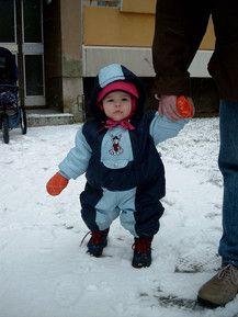 Erster Schneespaziergang