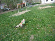 Emilio beim Fußball spielen