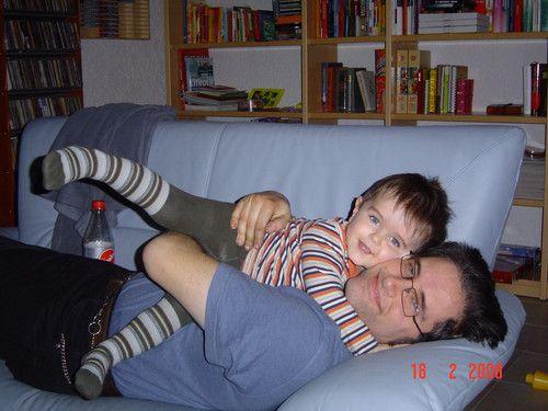 Papa und sein Maxe....