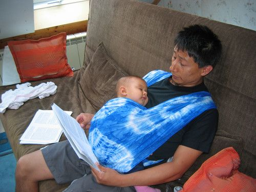 Auch beim Arbeiten ist es möglich bei Papa zu sein