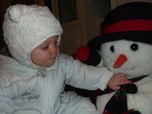 Lia´s erster Schneemann