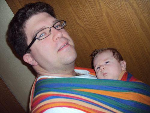 Papa trägt mich am liebste