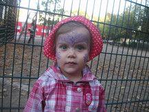 Sie wollte eine lila Elfe sein ;-))))