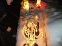 Weihnachtsbeleuchtung war zu verlockend