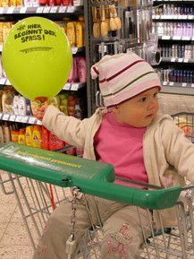 Beim Einkaufen bin ich immer dabei