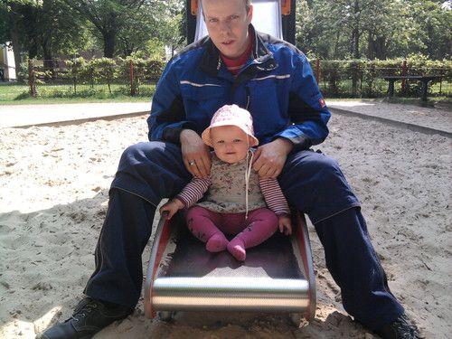 papa und ich auf dem spielplatz ;)