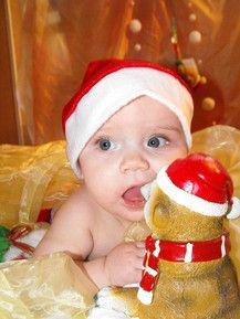 Lustiges Weihnachtserdmännchen