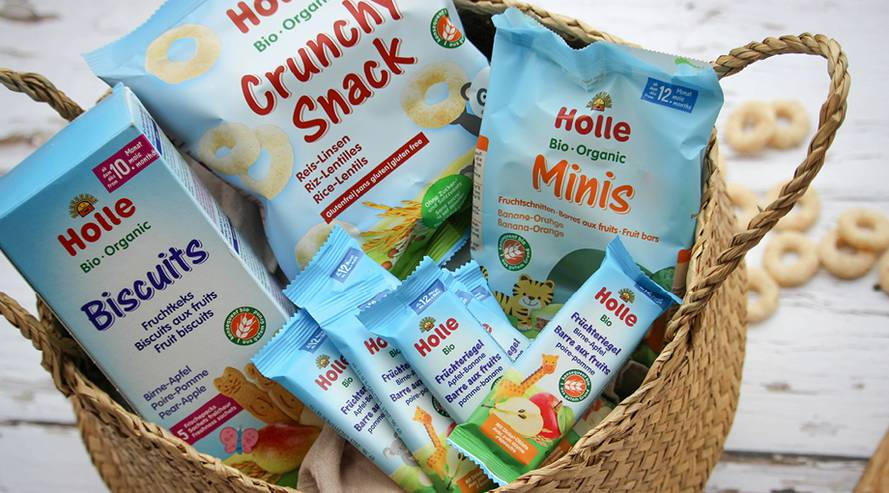 Holle Snacks Sortiment