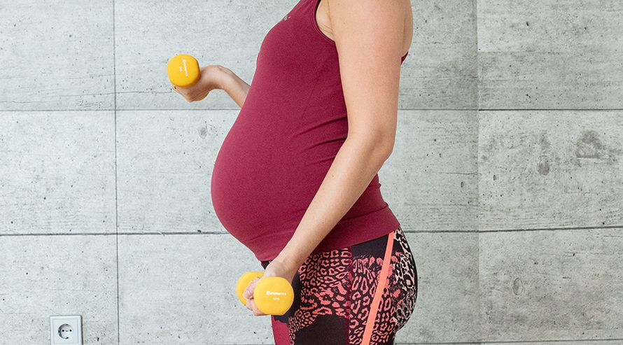 Schwanger bauch übergewicht Babybauch trotz